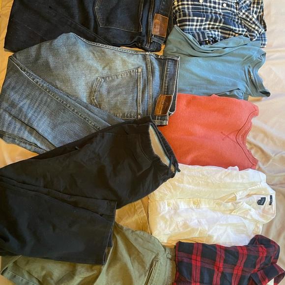 Men's Jcrew clothing lot, size L, 35W